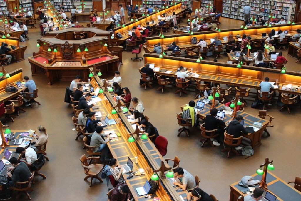 Bibliothek im Ausland