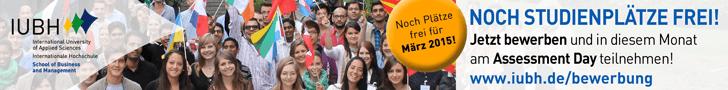 Noch Studienplätze frei - Jetzt bewerben und in diesem Monat am Assessment Day teilnehmen!